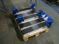 Belt conveyor flat packed